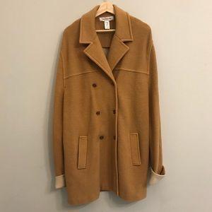 JONES NEW YORK merino wool long trench knit coat